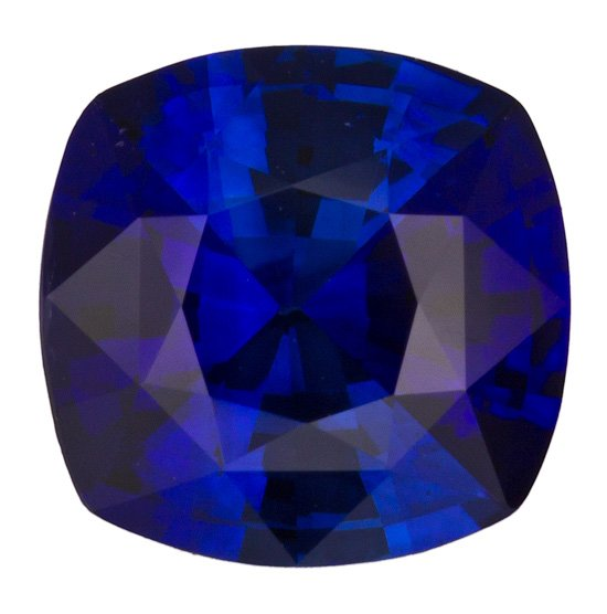 Lovely Intense Rich Blue Ceylon Blue Sapphire - Hard to Find Size & Shape, Antique Square Cut, 1.5 carats - SOLD