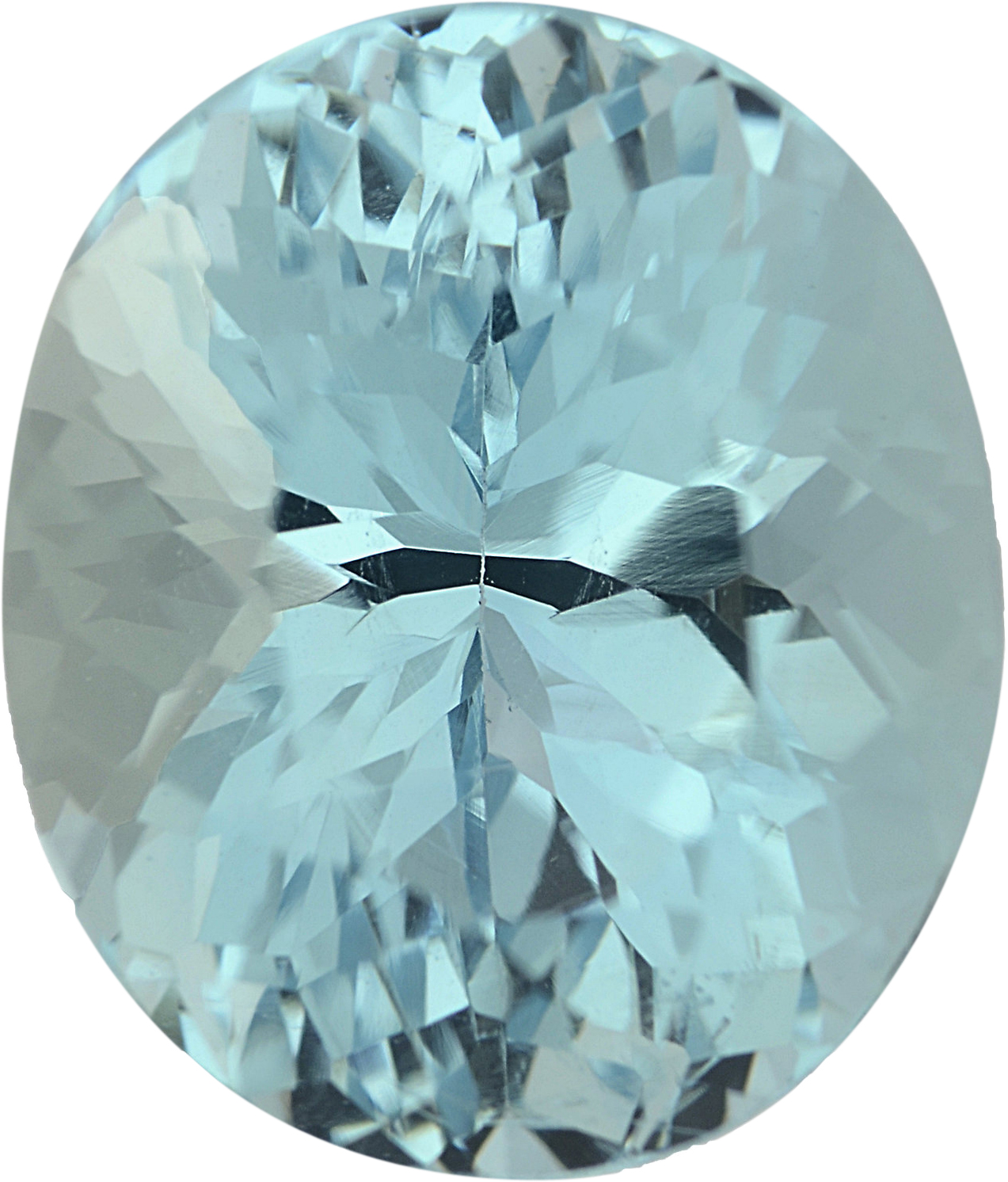 Lovely Loose Aquamarine Gem in Oval Cut, Greenish Blue, 10.81 x 9.16 mm, 3.92 carats