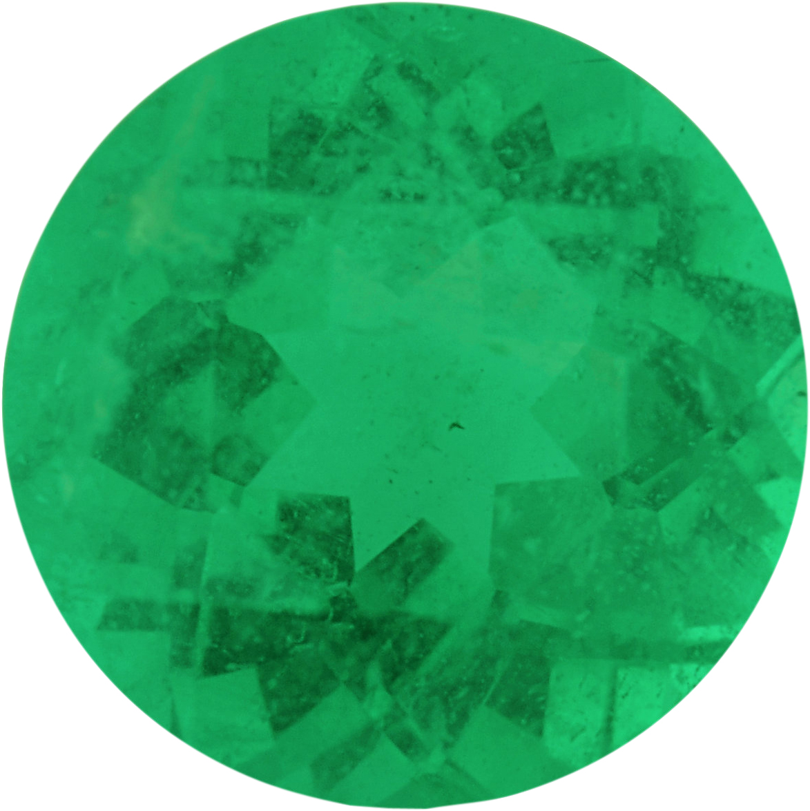 Lovely Loose Emerald Gem in Round Cut, Deep Green, 6.3 mm, 0.84 carats