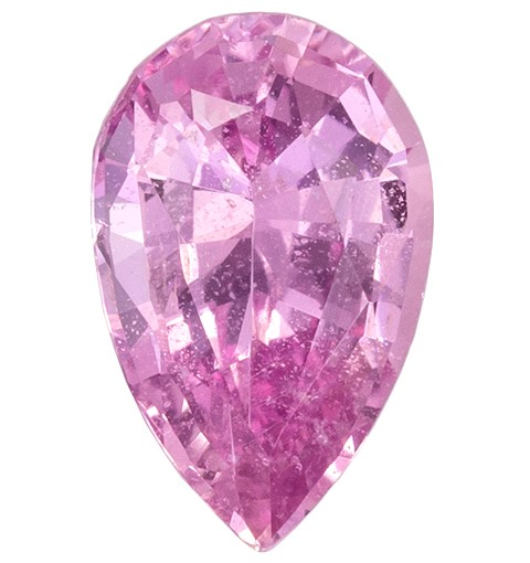 No Heat Pink Sapphire Gemstone, 1.23 carats, Pear Cut, 8.58 x 5.48 x 3.56 mm, Must See This Gem with GIA Cert