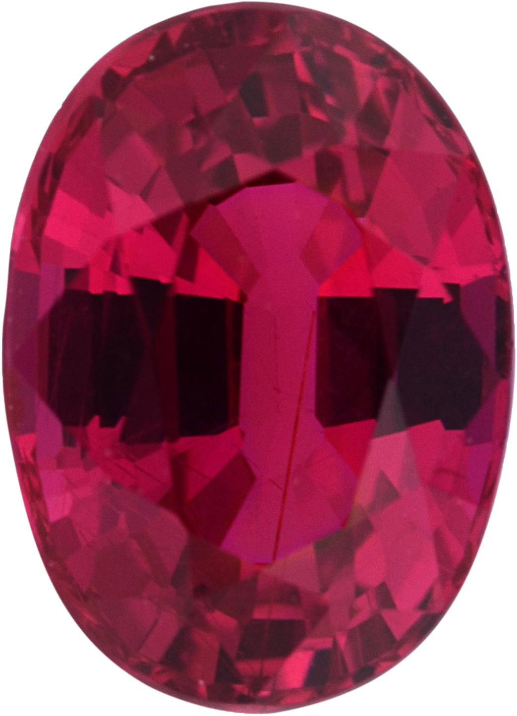 Lovely  No Heat Ruby Loose Gem in Oval Cut,  Purple Red, 7.23 x 5.23  mm, 1.36 Carats