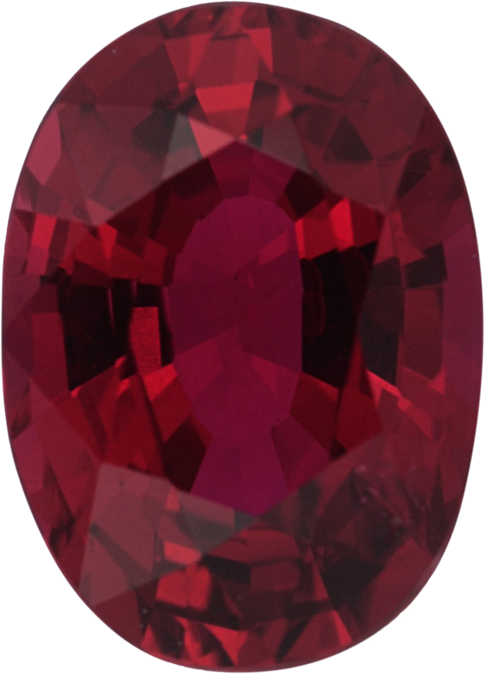 Lovely Oval Cut Loose Ruby Gem, Red Color, 6.85 x 4.93 mm, 0.96 carats
