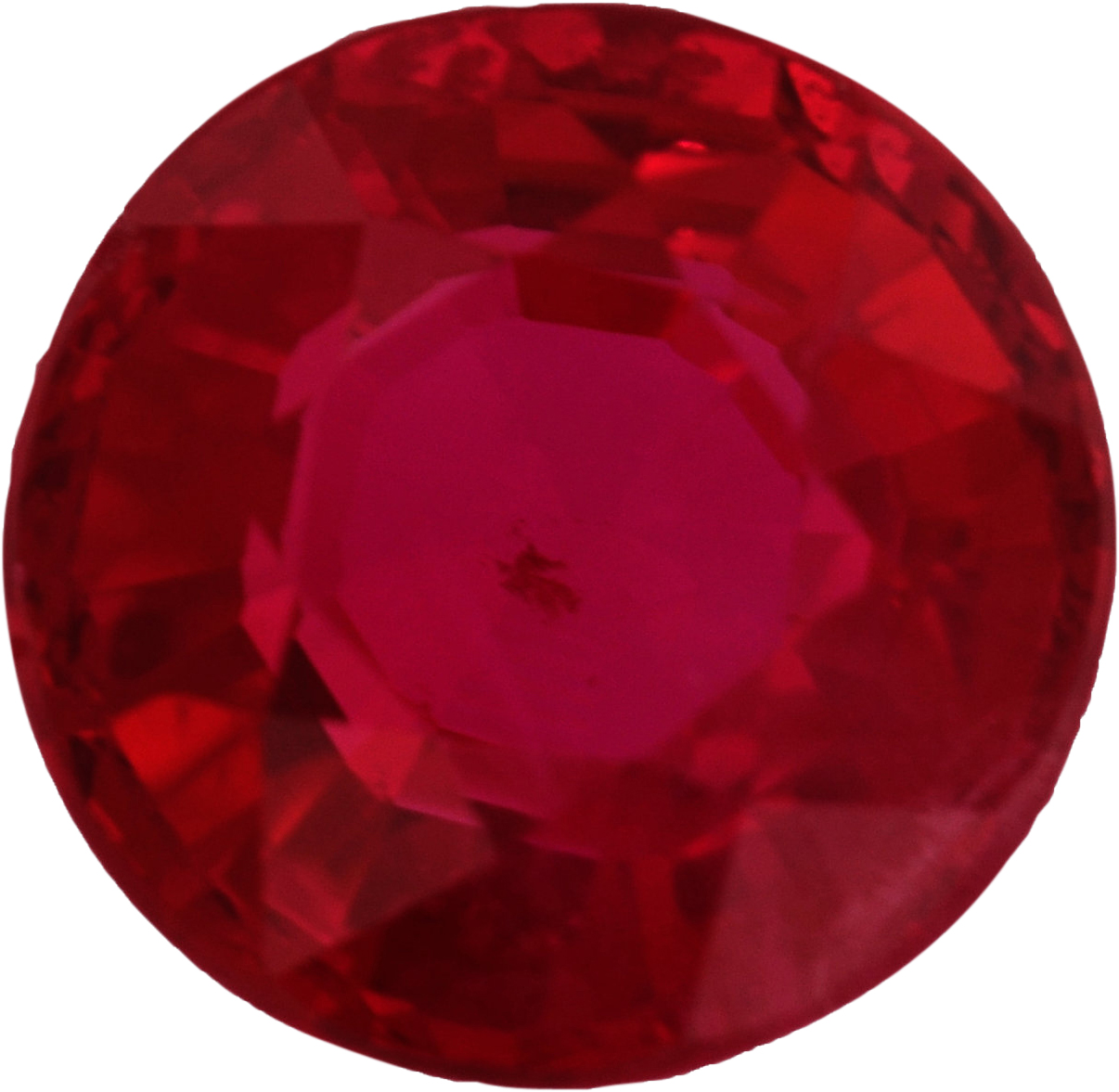 Lovely Round Cut Loose Ruby Gem, Vivid  Red Color, 6.01 mm, 1.09 carats