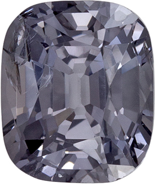 Low Cost Lovely Platinum Spinel Loose Gem in Cushion Cut, 6.8 x 5.7 mm, 1.38 carats