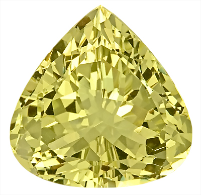 Lovely Unheated Genuine Yellow Beryl Gemstone- Large Size! Pear Shape, 20.6 x 20.4 mm, 24.75 carats