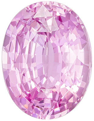 Lovely Unheated GIA Certified Pink Sapphire Loose Gem, Oval Cut, Light Baby Pink, 10.02 x 7.58 x 4.91 mm, 3.11 carats