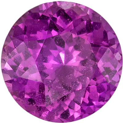 Lovely Unheated GIA Certified Purple Sapphire Genuine Gemstone, 6.13 x 6.18 x 3.9 mm, Rich Magenta Purple, Round Cut, 1.14 carats
