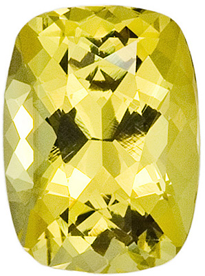 Lovely Yellow Lemon Chrysoberyl Gemstone With Great Life - Desirable Shape, Cushion Cut, 3.21 carats