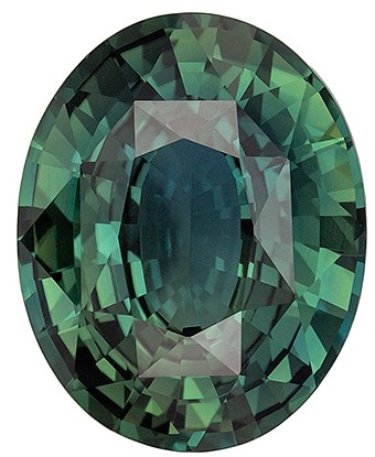 Low Price Blue Green Sapphire Gemstone, 3.17 carats, Oval Shape, 10.2 x 8.1 mm, Amazing Gemstone - Low Price