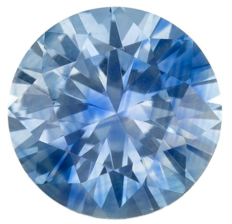 Low Price  Blue Green Sapphire Genuine Gemstone, 0.56 carats, Round Shape, 5 mm