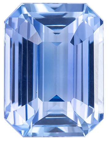 Low Price   Blue Sapphire Genuine Gemstone, 3 carats, Emerald Shape, 8.96 x 6.62 x 4.71 mm  with  Certificate