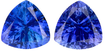 Low Price Ceylon Sapphire Gems - Wonderful Matched Pair, 6 mm, Trillion Cut, 1.8 carats