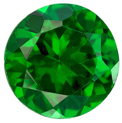 Low Price   Green Tsavorite Genuine Gemstone, 0.42 carats, Round Shape, 4.5 mm