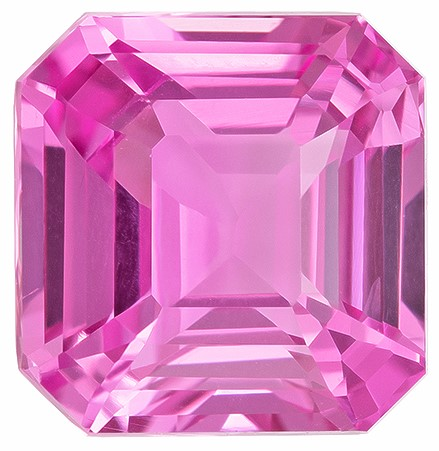 Low Price  Octagon  Cut Loose Pink Sapphire Loose Gemstone, 2.03 carats, 6.7 x 6.5 mm , Very Bright Gem
