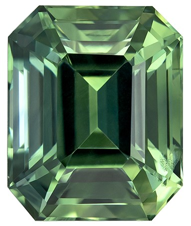 Low Price  Octagon  Cut Natural Blue Green Sapphire Gemstone, 2.09 carats, 7.4 x 6 mm , Stunning Fine Stone