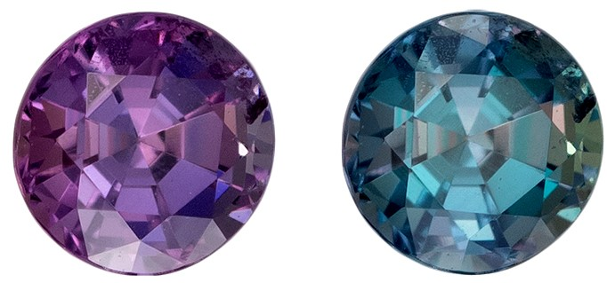 Great Buy on This Stone  Color Change Alexandrite Genuine Gemstone, 0.28 carats, Round Shape, 3.7 mm