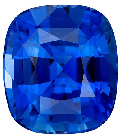 Low Price on Blue Sapphire Cushion Shaped Gemstone, 2.38 carats, 7.8 x 6.9mm - Low Price