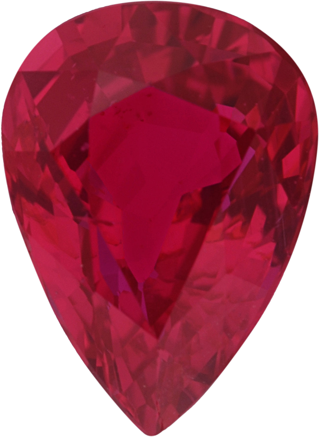 Low Price on No Heat Pear Shape Loose Ruby Gem, Deep  Red Color, 7.53 x 5.48 mm, 1.14 carats