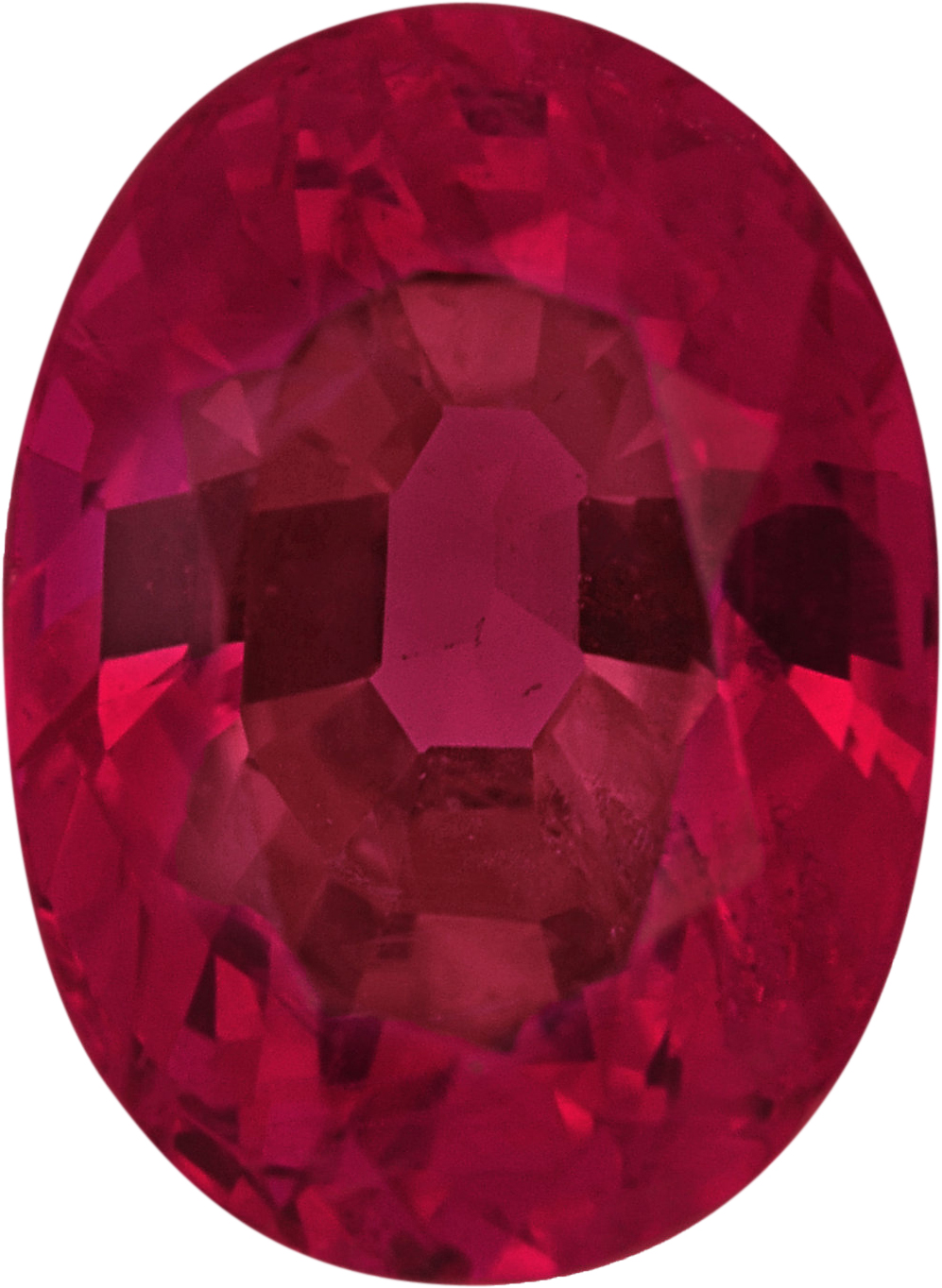 Low Price on Oval Cut Loose Ruby Gem, Deep  Red Color, 6.77 x 4.98 mm, 1.17 carats