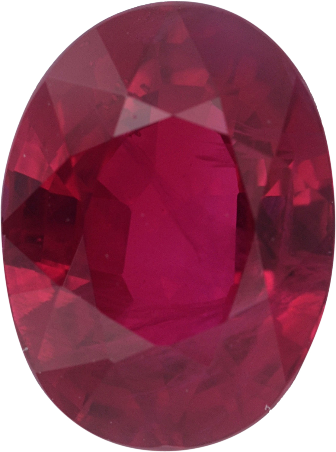 Low Price on Oval Cut Loose Ruby Gem,  Red Color, 7.50 x 5.61 mm, 1.59 carats