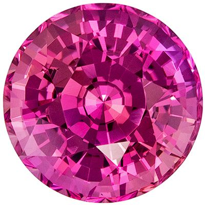 Low Price on Perfect Pink Sapphire Round Cut, 2.4 carats, 7.6 mm