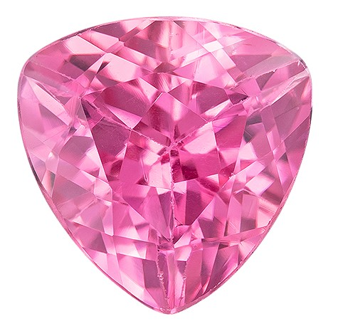 Low Price on Pink Tourmaline Trillion Shaped Gemstone, 1.23 carats, 6.9mm - Super Great Buy