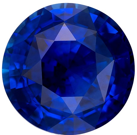 Low Price on Round Cut Natural Blue Sapphire Gemstone, 3.19 carats, 8.97 x 8.9 x 5.11 mm with GIA Certificate, Fine Material