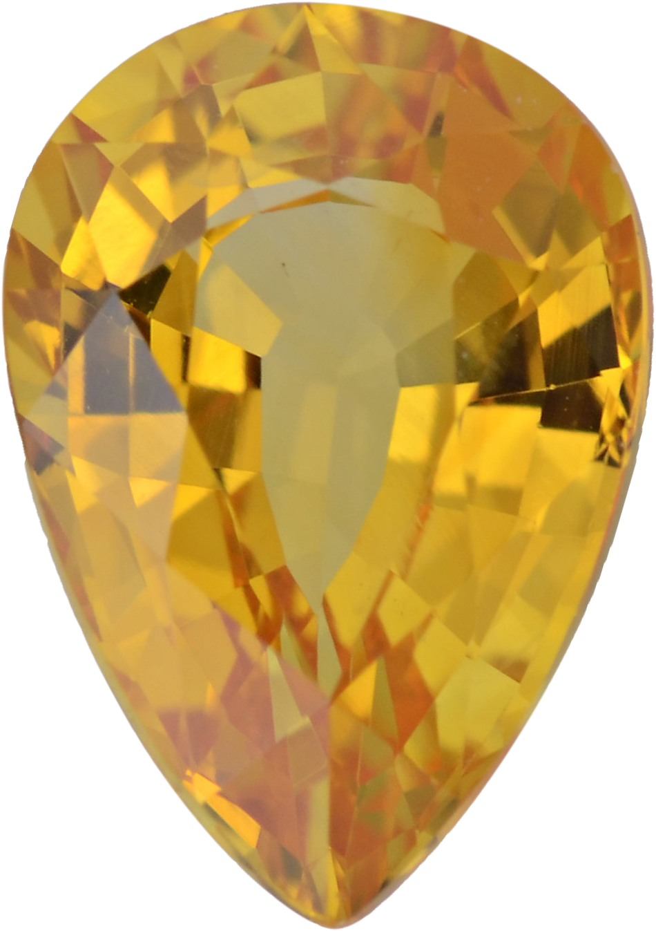 Low Price On Sapphire Loose Gem in Pear Cut, Medium Orangy Yellow, 7.50 x 5.24  mm, 1.15 Carats