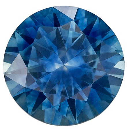 Low Price on Top Gem  Blue Green Sapphire Genuine Gemstone, 0.73 carats, Round Shape, 5.4 mm