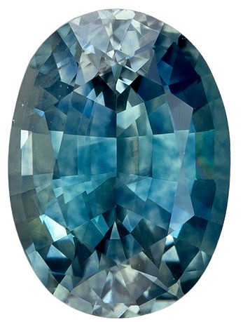Low Price on Top Gem  Blue Green Sapphire Genuine Gemstone, 1.09 carats, Oval Shape, 6.9 x 4.9 mm