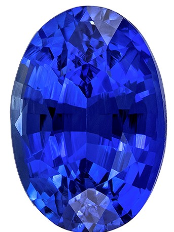 Great Buy on This Stone  Blue Sapphire Genuine Gemstone, 0.63 carats, Oval Shape, 5.9 x 4 mm