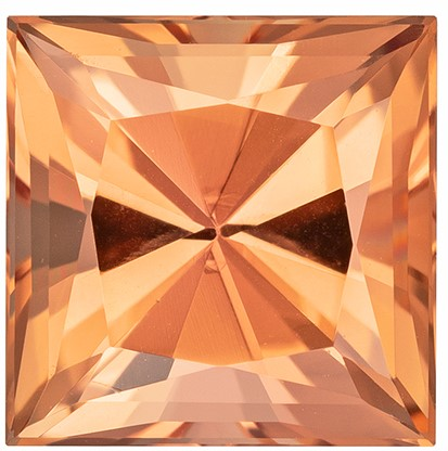 Truly Stunning  Imperial Topaz Genuine Gemstone, 3.08 carats, Princess Shape, 8 mm