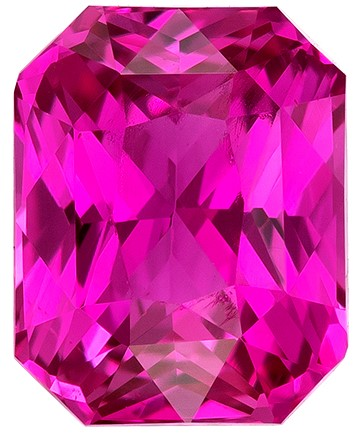 Low Price on Top Gem  Radiant Cut Beautiful Pink Sapphire Loose Gemstone, 1.06 carats, 6.2 x 4.9 mm , Full Brilliance
