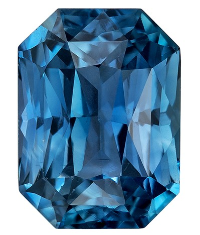 Low Price on Top Gem  Radiant Cut Loose Blue Green Sapphire Gemstone, 1.4 carats, 6.8 x 5 mm , A Great Deal