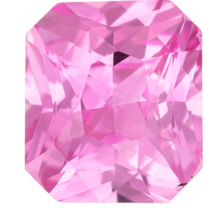 Low Price on Top Gem  Radiant Cut Natural Pink Sapphire Loose Gemstone, 2.07 carats, 7.4 x 6.5 mm , Stunning Cut