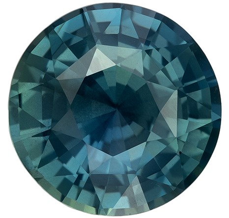 Low Price on Top Gem  Round Cut Faceted Blue Green Sapphire Gemstone, 2.5 carats, 8.25 x 8.33 x 4.85 mm with GIA Certificate, Top Gem Material
