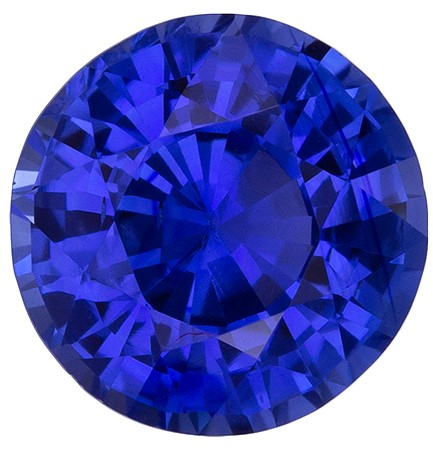 Low Price on Top Gem  Round Cut Faceted Blue Sapphire Gemstone, 1.18 carats, 6.3 mm , A Must Have Gem