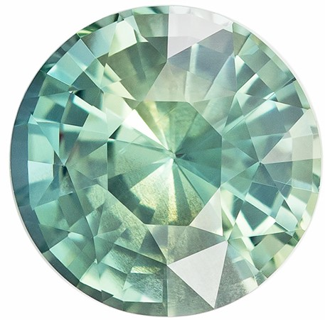 Low Price on Top Gem  Round Cut Genuine Blue Green Sapphire Gemstone, 2.03 carats, 7.3 mm , Stunning Fine Stone