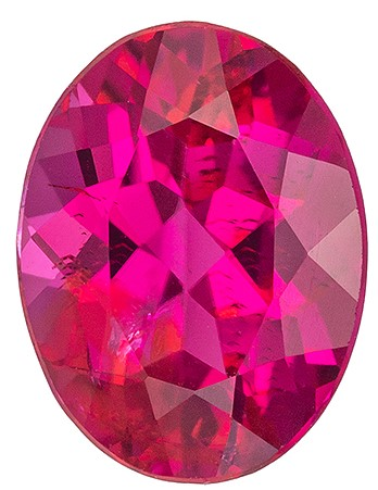 Extraordinary Fine Red Tourmaline Genuine Gemstone, 1.25 carats, Oval Shape, 8.2 x 6.3 mm