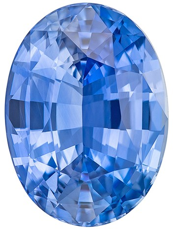 Low Price  Oval Cut Faceted Blue Sapphire Gemstone, 3.71 carats, 10.6 x 7.7 mm , Such Color