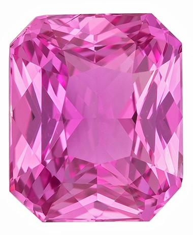 Low Price Radiant Cut Beautiful Pink Sapphire Loose Gemstone, 2.2 carats, 7.99 x 6.62 x 4.29 mm with GIA Certificate, Such Color