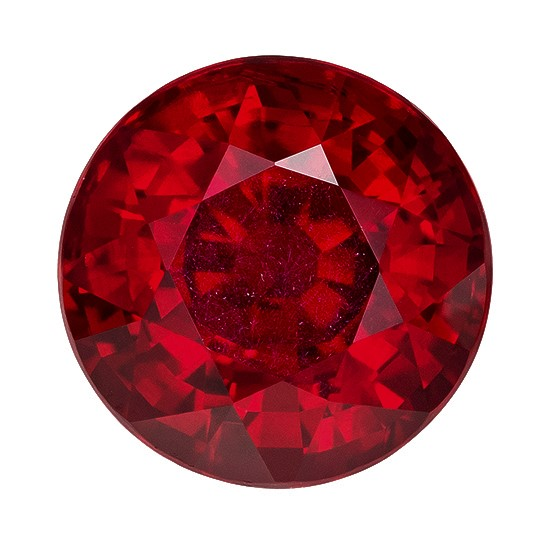 Low Price  Red Ruby Genuine Gemstone, 2.16 carats, Round Shape, 7.19 x 7.16 x 5.16 mm  with  GIA Certificate