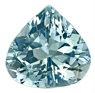 Low Priced Enchanting Medium Blue Aquamarine Genuine Gemstone, Pear Shape,  3.73 carats,