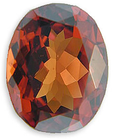Magical Rich Reddish Orange Malaia Garnet Gemstone, Oval Cut, 6.34 carats