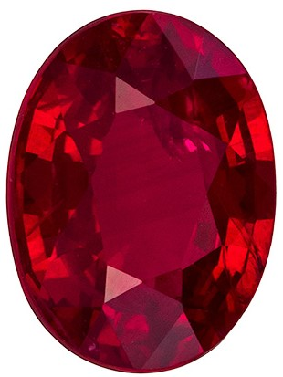 Magnificent Crystal Red Red 1.63 carat Ruby Oval shaped gemstone, 8 x 6 mm