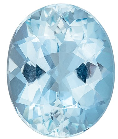 Great Buy on This Stone  Blue Aqua Genuine Gemstone, 2.05 carats, Oval Shape, 9.8 x 8 mm