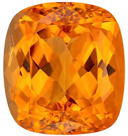 Magnificent Gem  Cushion Cut Genuine Imperial Topaz Loose Gemstone, 22.91 carats, 16.8 x 15.4 mm , Such Color