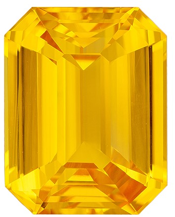 Magnificent Gem Octagon Cut Beautiful Yellow Sapphire Gemstone, 9.52 carats, 13.39 x 10.5 x 6.68 mm with GIA Certificate, A Great Deal