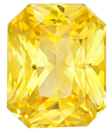 Magnificent Gem  Radiant Cut Loose Yellow Sapphire Loose Gemstone, 3.09 carats, 9.1 x 7.3 mm , Great Ring Gemstone