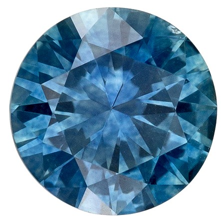 Magnificent Gem  Round Cut Natural Blue Green Sapphire Gemstone, 0.75 carats, 5.4 mm , A Must Have Gem